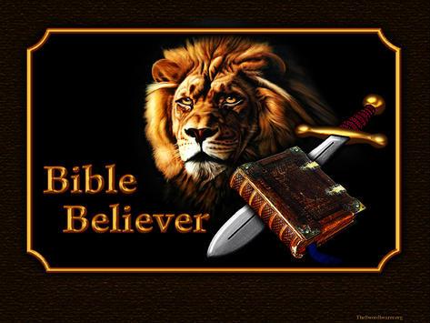 Bible believer sword lion