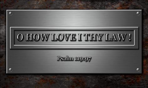 Bible verse plaque Psalm 119