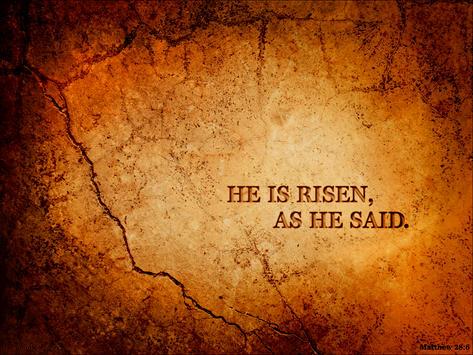 Bible verse He is risen