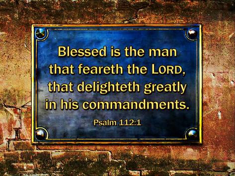 Bible verse plaque Psalm 112
