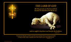 Lamb of God cross crown thorns