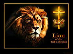 Lion of the tribe of Judah cross crown thorns