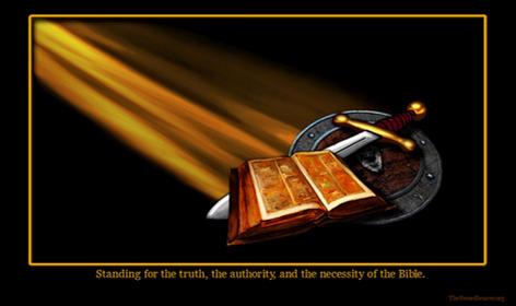 Bible sword shield light rays