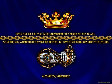 Christian warrior's gauntlet crown chain