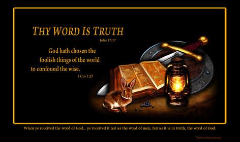 Bible sword shield rabbit lamp