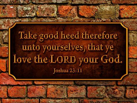 Bible verse plaque Joshua 23