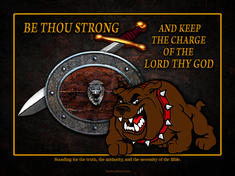Be strong Christian sword shield