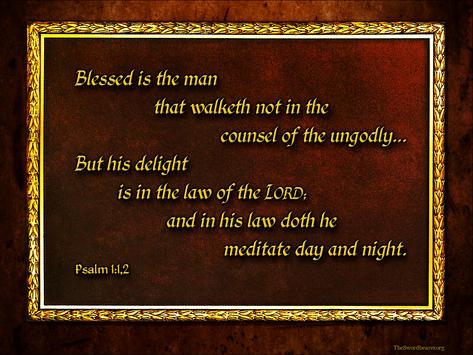 Bible verse plaque Psalm 1