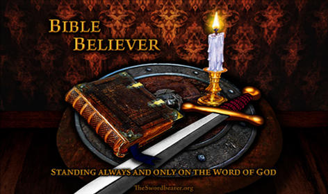 Bible believer sword shield candle