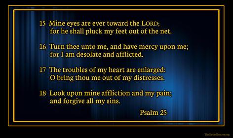 Bible verse plaque Psalm 25