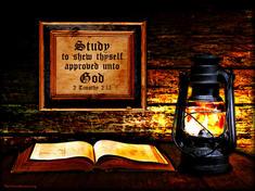 Bible study lamp