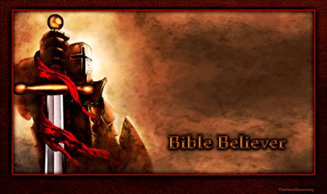 Bible believer sword shield