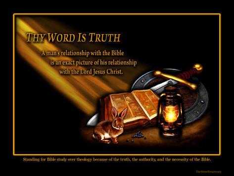Light rays Bible sword shield lamp