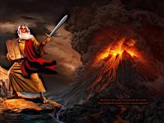 Moses and 10 Commandments on Sinai