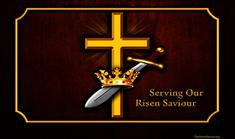 Christ's resurrection cross crown sword