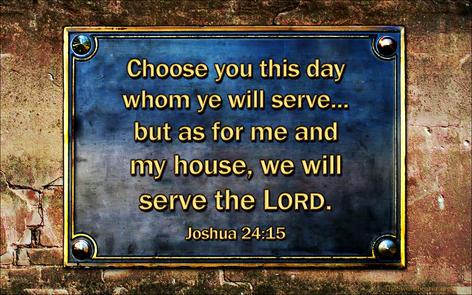 Bible verse plaque Joshua 24