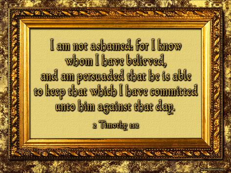 Bible verse plaque 2 Timothy