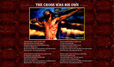 Christ on the cross and poem