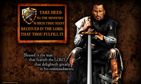 Be strong Christian warrior