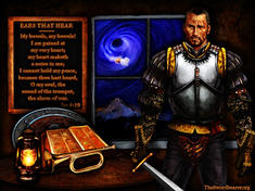 Christian warrior with armor