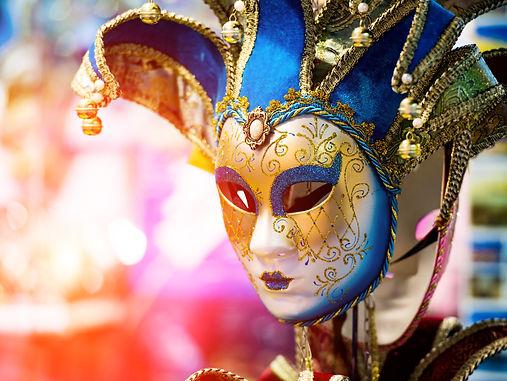 Colorful Venetian carnival mask for sale