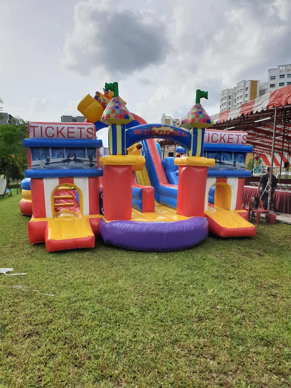 bouncy castle outside field