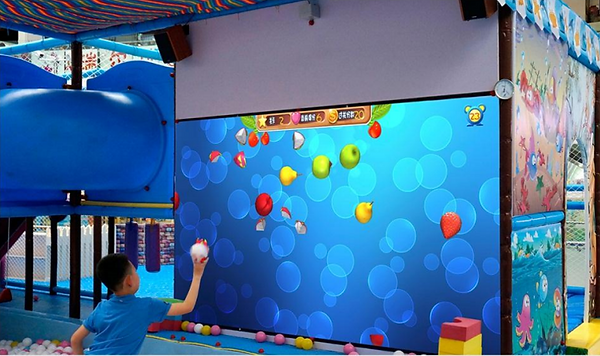 interactive projector game