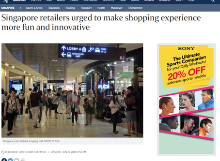 Singapore retailers urged to make shopping experience more fun and innovative