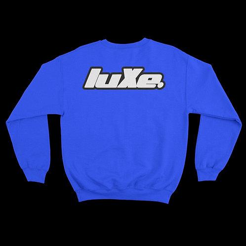Pull Crewneck luXe Bleu Électrique