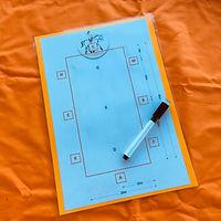Wipeable A4 Dressage test board