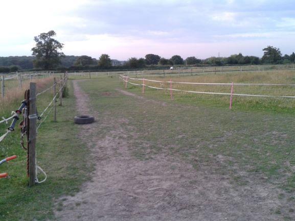 grass track livery yard field