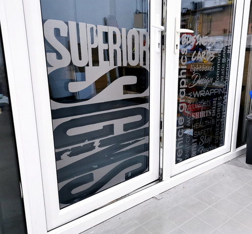 Superior Signs Window Frosting
