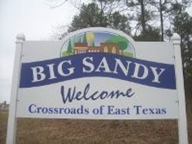 Welcome sign in Big Sandy