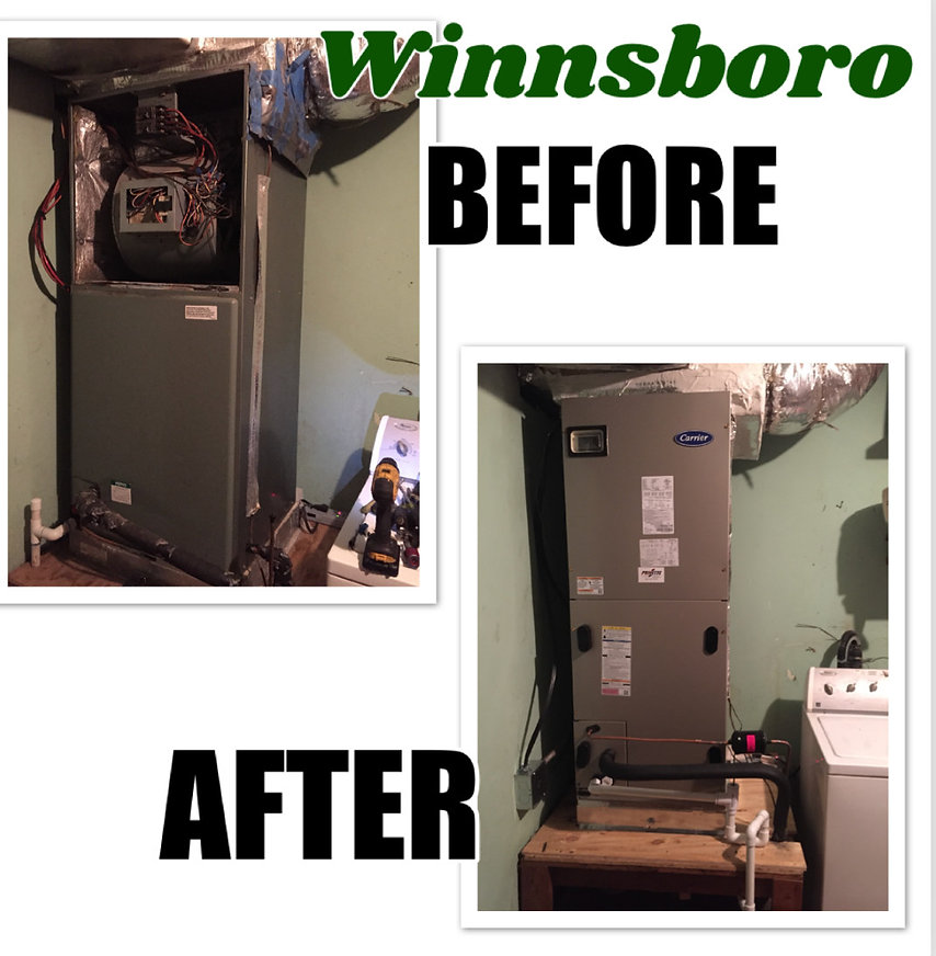 New heating and air conditioning install in Winnsboro, TX