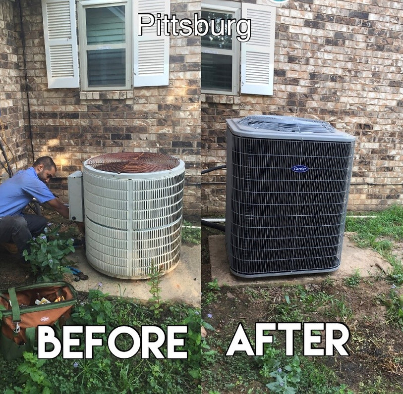 HVAC install in Pittsburg