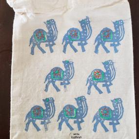 Camel Block Print Bag