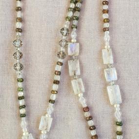 Moonstones and Touramline Necklace