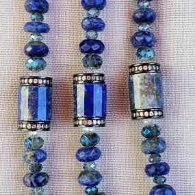 Detail - Long Lapis Necklace