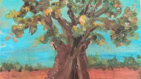 Monoprints - Ancient Olive Trees in  Puglia