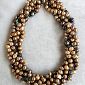 Swirls of Golden Pearls