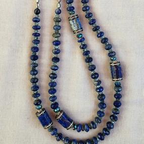 Long Lapis Necklace