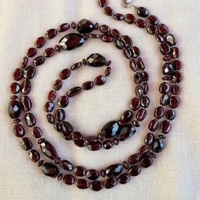 Long Garnet Necklace