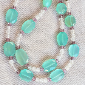 Chunky Chrysoprase and Moonstone Necklace