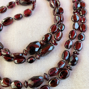 Long Mixed Garnet Necklace