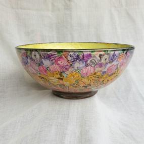 Flower Fields Glass Bowl