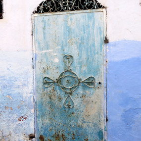 Blue Door in the Blue City, Chefchaouen