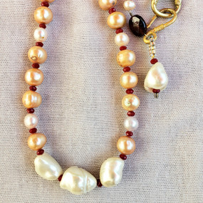 Baroque and Blush Pearl Necklace