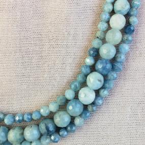 Detail - Three-Stand Aquamarine Necklace