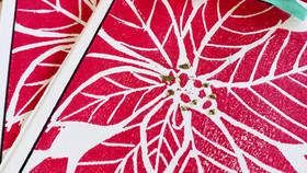 Poinsettia Prints - Creative Holiday Cards