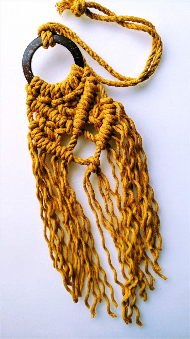 Chunky Macrame Necklace